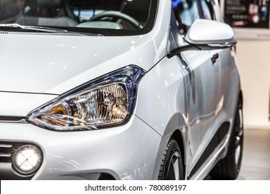Frankfurt, Germany, September 13, 2017: Hyundai new i10 at 67th International Motor Show (IAA), silver metallic