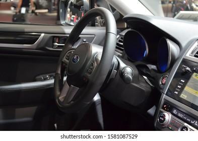 Frankfurt, Germany, September 13-2017: Subaru Outback presented at IAA 2017