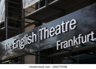 frankfurt, hesse/germany - 11 10 18: the english theatre frankfurt sign in frankfurt germany