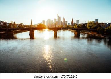 Frankfurt am Main creative photography during spring time. 14.04.2020 Frankfurt am Main Germany.