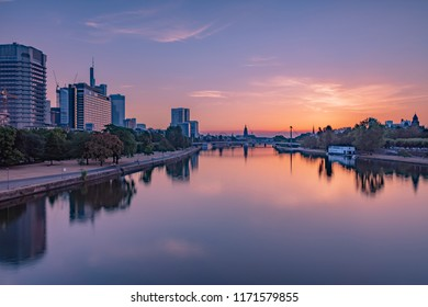 Frankfurt am Main during the Sunrise with pastellcolors