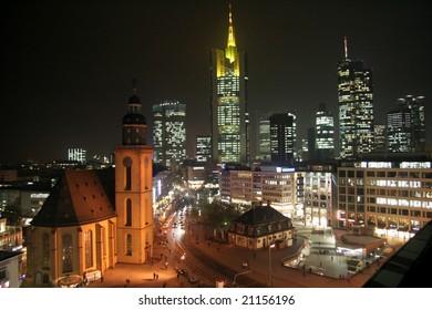 Frankfurt am Main, Germany, by night