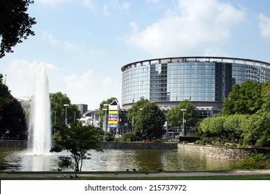 FRANKFURT AM MAIN, GERMANY, July The 31st 2014: Messe Frankfurt - International trade fairs, cutting-edge congresses and spectacular events.