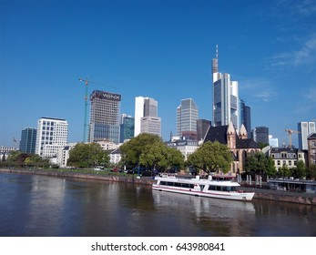 FRANKFURT AM MAIN, GERMANY - MAY 6, 2017: Modern architecture of Frankfurt am Main. City skyline.