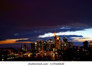Frankfurt Am Main, Germany. New European financial, fintech and insurtech capital after Brexit.