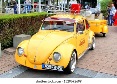 Frankfurt am Main, Germany - September 14, 2013: German car Volkswagen Beetle exhibited at the annual Frankfurt Motor Show IAA (Internationale Automobil Ausstellung).