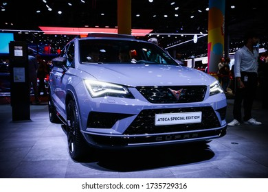 Frankfurt am Main, Germany - September 18, 2019: Compact crossover SEAT Ateca Cupra Special Edition presented at the Frankfurt International Motor Show IAA (Internationale Automobil Ausstellung).