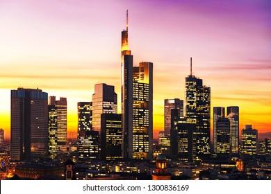 Frankfurt am Main, Germany - Sunset