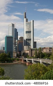 Frankfurt am Main, germany - View of the business district and the river
