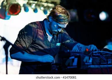 FRANKFURT - NOVEMBER 22: The Field in concert on November 22, 2009 in Frankfurt, Germany.