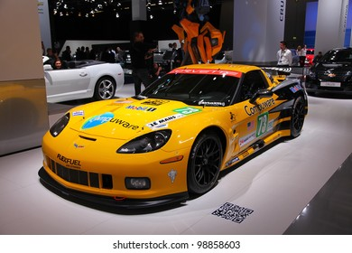FRANKFURT - SEP 13: Chevrolet Corvette Le Mans race car presented at the 64th IAA (Internationale Automobil Ausstellung) on September 13, 2011 in Frankfurt, Germany.