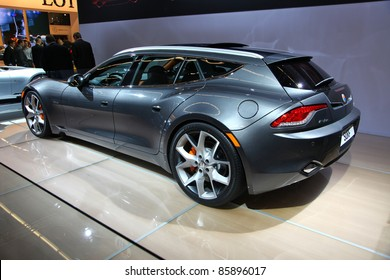 FRANKFURT - SEP 14: Fisker Automotive Electronic Vehicle Surf shown at the 64th IAA (Internationale Automobil Ausstellung) on September 14, 2011 in Frankfurt, Germany.