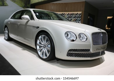 FRANKFURT - SEPT 10: Bentley New Flying Spur shown at the 65th IAA (Internationale Automobil Ausstellung) on September 10, 2013 in Frankfurt, Germany.