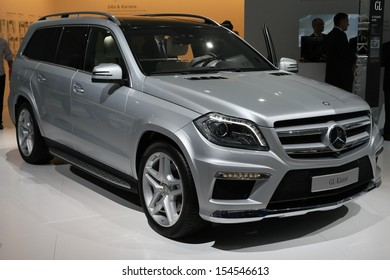 FRANKFURT - SEPT 10: Mercedes Benz GL Class shown at the 65th IAA (Internationale Automobil Ausstellung) on September 10, 2013 in Frankfurt, Germany.