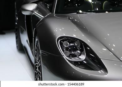 FRANKFURT - SEPT 10: Porsche 918 Spyder shown at the 65th IAA (Internationale Automobil Ausstellung) on September 10, 2013 in Frankfurt, Germany.