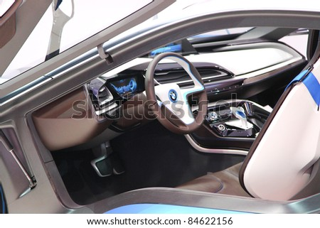 Frankfurt Sept 13 Interior Bmw I 8 Stock Photo Edit Now 84622156