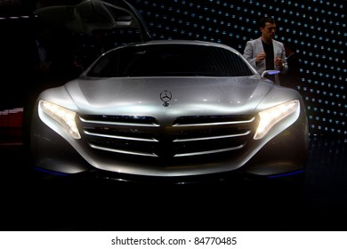 FRANKFURT - SEPT 13: Mercedes Benz F125 concept car shown at the 64th IAA (Internationale Automobil Ausstellung) on September 13, 2011 in Frankfurt, Germany.