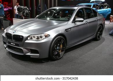 FRANKFURT - SEPT 15: BMW M5 shown at the 66th IAA (Internationale Automobil Ausstellung) on September 15, 2015 in Frankfurt, Germany.