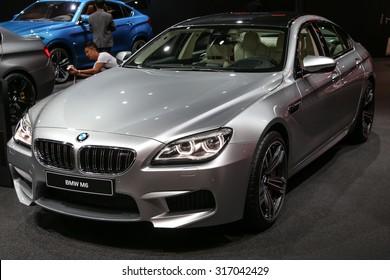 FRANKFURT - SEPT 15: BMW M6 shown at the 66th IAA (Internationale Automobil Ausstellung) on September 15, 2015 in Frankfurt, Germany.