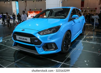 FRANKFURT - SEPT 15: Ford Focus RS shown at the 66th IAA (Internationale Automobil Ausstellung) on September 15, 2015 in Frankfurt, Germany.