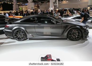 FRANKFURT - SEPT 15: Mansory Mercedes S Class Coupe AMG S63 shown at the 66th IAA (Internationale Automobil Ausstellung) on September 15, 2015 in Frankfurt, Germany.