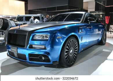 FRANKFURT - SEPT 15: Mansory Rolls-Royce Wraith shown at the 66th IAA (Internationale Automobil Ausstellung) on September 15, 2015 in Frankfurt, Germany.
