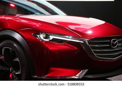 FRANKFURT - SEPT 15: Mazda Koeru shown at the 66th IAA (Internationale Automobil Ausstellung) on September 15, 2015 in Frankfurt, Germany.