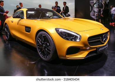 FRANKFURT - SEPT 15: Mercedes AMG GT S shown at the 66th IAA (Internationale Automobil Ausstellung) on September 15, 2015 in Frankfurt, Germany.