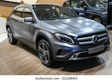 FRANKFURT - SEPT 15: Mercedes Benz GLA 200d 4Matic shown at the 66th IAA (Internationale Automobil Ausstellung) on September 15, 2015 in Frankfurt, Germany.