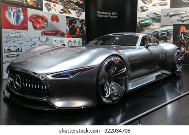 FRANKFURT - SEPT 15: Mercedes Benz AMG Vision Gran Turismo shown at the 66th IAA (Internationale Automobil Ausstellung) on September 15, 2015 in Frankfurt, Germany.