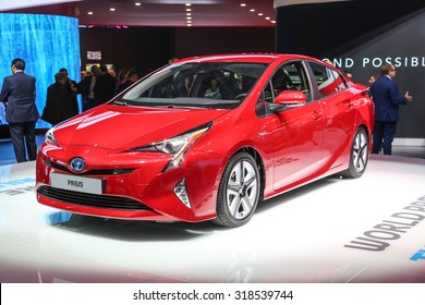 FRANKFURT - SEPT 15: Toyota Prius Hybrid shown at the 66th IAA (Internationale Automobil Ausstellung) on September 15, 2015 in Frankfurt, Germany.