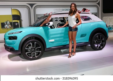 FRANKFURT - SEPT 16: Citroen Cactus M shown at the 66th IAA (Internationale Automobil Ausstellung) on September 16, 2015 in Frankfurt, Germany.