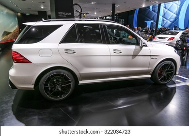 FRANKFURT - SEPT 16: Mercedes AMG GLE 63 S 4Matic shown at the 66th IAA (Internationale Automobil Ausstellung) on September 16, 2015 in Frankfurt, Germany.