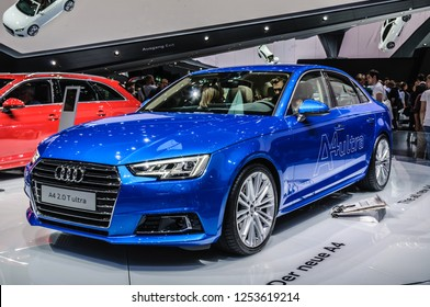 FRANKFURT - SEPT 2015: Audi A4 2.0 T ultra presented at IAA International Motor Show on September 20, 2015 in Frankfurt, Germany
