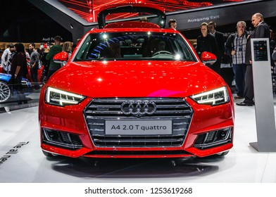 FRANKFURT - SEPT 2015: Audi A4 3.0 TDI quattro presented at IAA International Motor Show on September 20, 2015 in Frankfurt, Germany