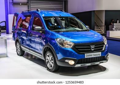 FRANKFURT - SEPT 2015: Dacia Dokker Stepway presented at IAA International Motor Show on September 20, 2015 in Frankfurt, Germany
