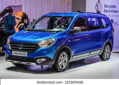 FRANKFURT - SEPT 2015: Dacia Lodgy Stepway presented at IAA International Motor Show on September 20, 2015 in Frankfurt, Germany