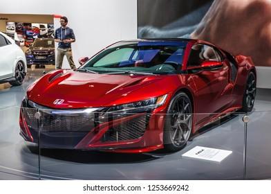 FRANKFURT - SEPT 2015: Honda NSX concept presented at IAA International Motor Show on September 20, 2015 in Frankfurt, Germany