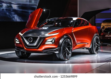 FRANKFURT - SEPT 2015: Nissan Gripz Concept presented at IAA International Motor Show on September 20, 2015 in Frankfurt, Germany
