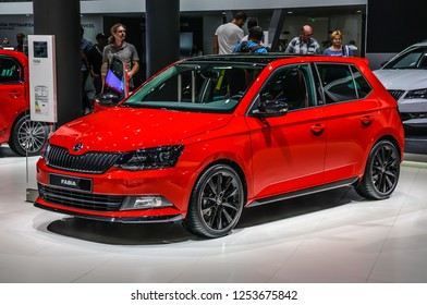 FRANKFURT - SEPT 2015: Skoda Fabia Combi presented at IAA International Motor Show on September 20, 2015 in Frankfurt, Germany