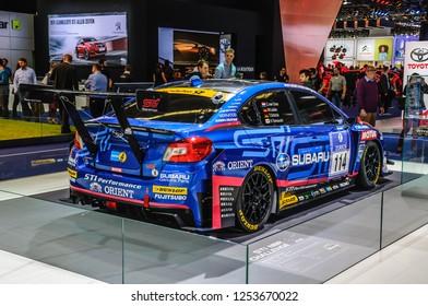 FRANKFURT - SEPT 2015: Subaru STI NBR Challenge presented at IAA International Motor Show on September 20, 2015 in Frankfurt, Germany
