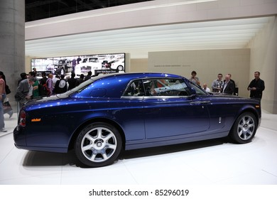 FRANKFURT - SEPT 24: New Rolls Royce Phantom Coupe on display at the 64th IAA (Internationale Automobil Ausstellung) on September 24, 2011 in Frankfurt, Germany