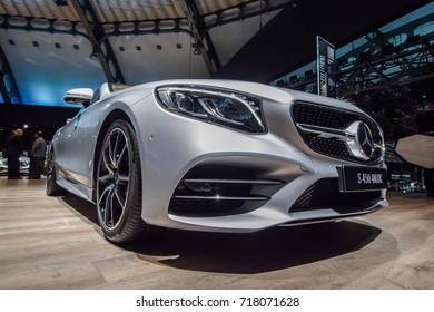 FRANKFURT - SEPTEMBER 12, 2017: 2018 model year Mercedes-Benz S-Class Coupe is on display at 67th IAA, Frankfurt.