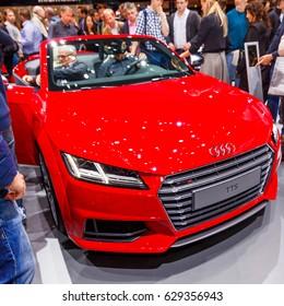 FRANKFURT - SEPTEMBER 22, 2015: Audi shown at the 66th IAA (Internationale Automobil Ausstellung) on September 22, 2015 in Frankfurt, Germany