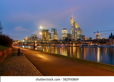 Frankfurt. Skyscrapers of the city's business center.