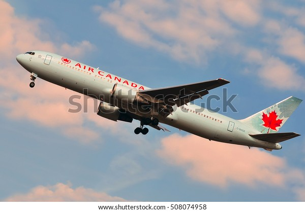 FRANKFURT,GERMANY - APR 16:AIR CANADA aircraft  on April 16,2015 in Frankfurt, Germany.Air Canada is the flag carrier and largest airline of Canada.