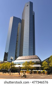 FRANKFURT,GERMANY- AUG 25:DEUTSCHE Bank on August 25,2016in Frankfurt, Germany.Deutsche Bank AG is a German global banking and financial services company with its headquarters in Frankfurt.