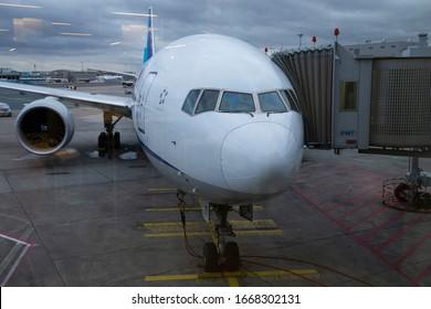 Frankfurt/Germany February 23, 2020 JA791A ALL NIPPON AIRWAYS BOEING 777-300