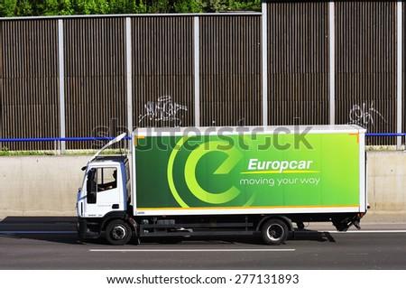 Frankfurtgermany May 08 Truck Europcar On Highway Stock Photo Edit