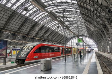 Frankfurt,Germany on 27th july 2017:  Frankfurt (Main) Hauptbahnhof is one of  the busiest railway stations in Germany, with about 450,000 passengers per day.